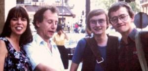Paris 1979: Linda, Mezieres, mig og Ingo Milton.