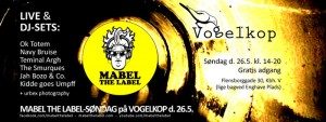 Kom til MABEL THE LABEL sndag p Caf Vogelkop den 25. maj.